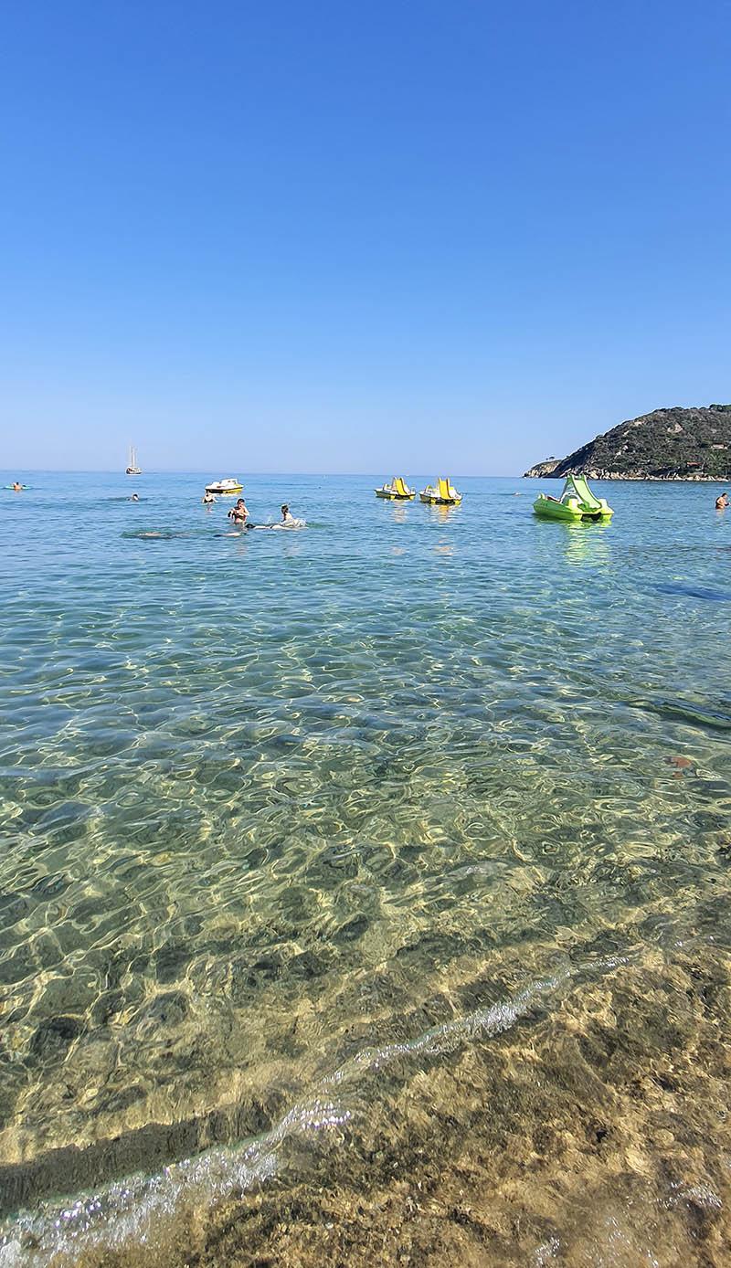Spiaggia della Biodola all'isola d'Elba