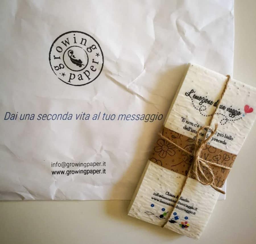 Gadget ecologici_fiere_gadget con semi_growing paper