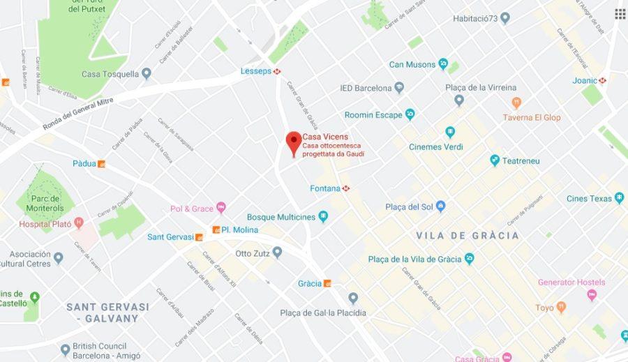 Come arrivare a Casa Vicens a Barcellona