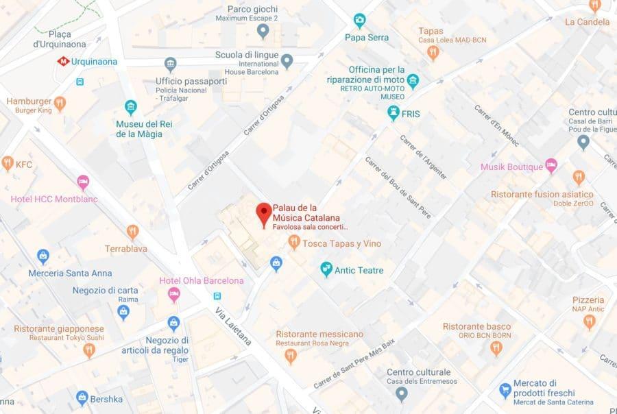 Come raggiungere Palau de la musica catalana_Barcellona