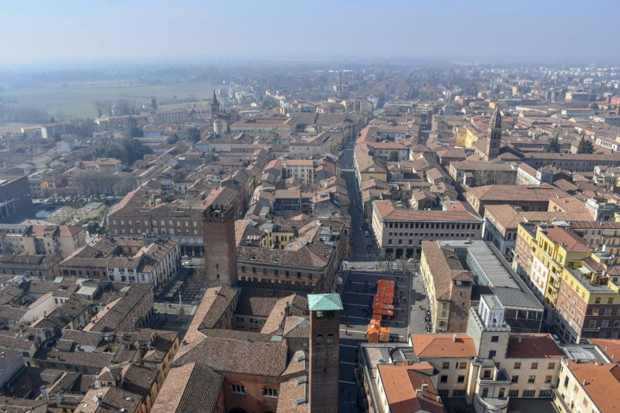 Vista su Cremona_panorama_torrazzo