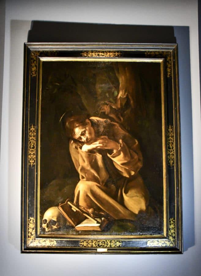 Caravaggio_San Francesco in meditazione_Cremona_Museo civico Ala Ponzone