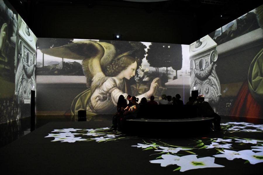 La Sala immersiva della mostra Leonardo Da Vinci 3D a Milano