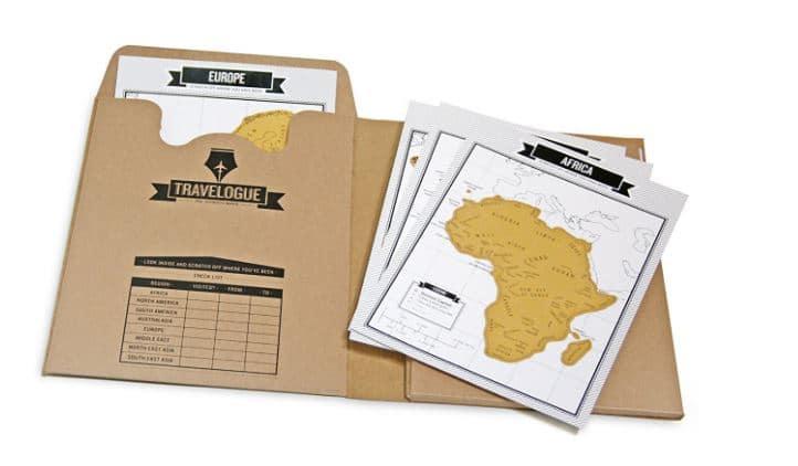 Diario di viaggio scratch map