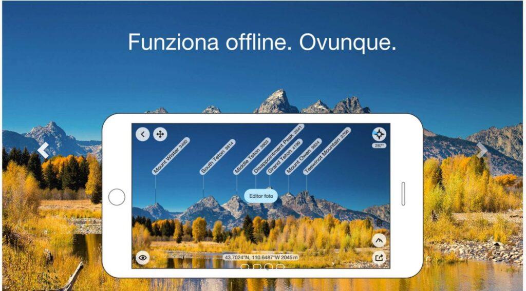 PeakFinder app turismo realtà aumentata