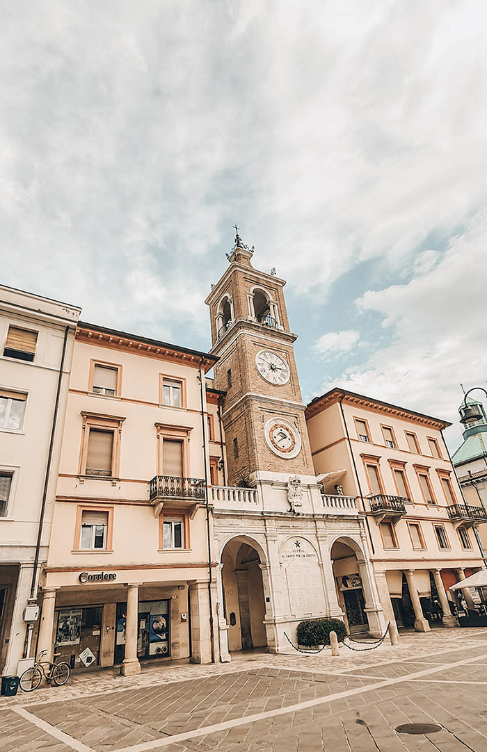Piazza Tre Martiri a Rimini