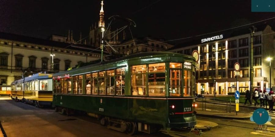 Tour notturno tram storico Milano